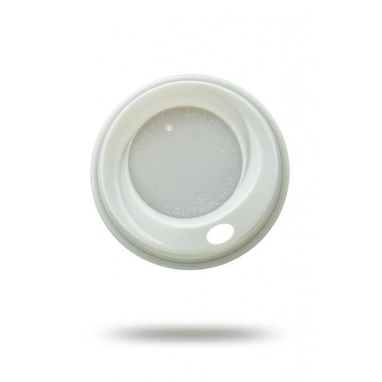 Крышка PS для бумажных стаканов Ø=70мм | Белая