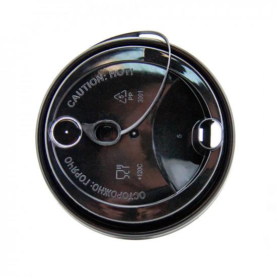 Крышка с питейником PP Ø=80мм | Прозрачная для стаканов NEW