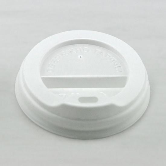 Крышка PS для бумажных стаканов Ø=69мм   Белая