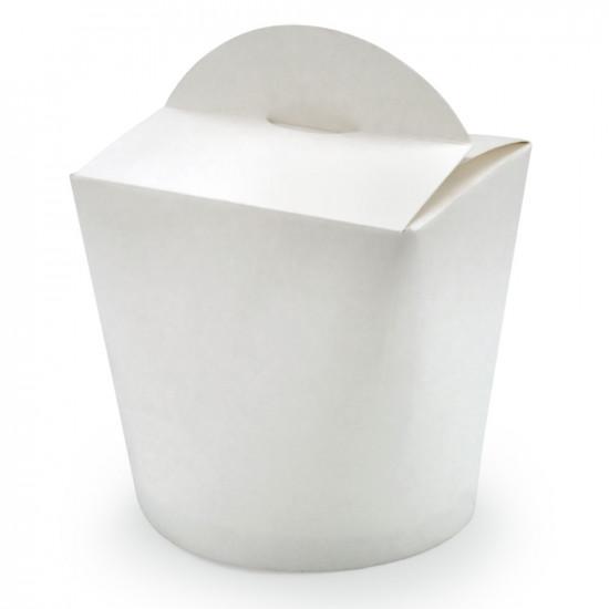 Коробка бумажная для лапши (Паста Бокс) 750мл | Белая 2PE Ø=95мм, h=95мм