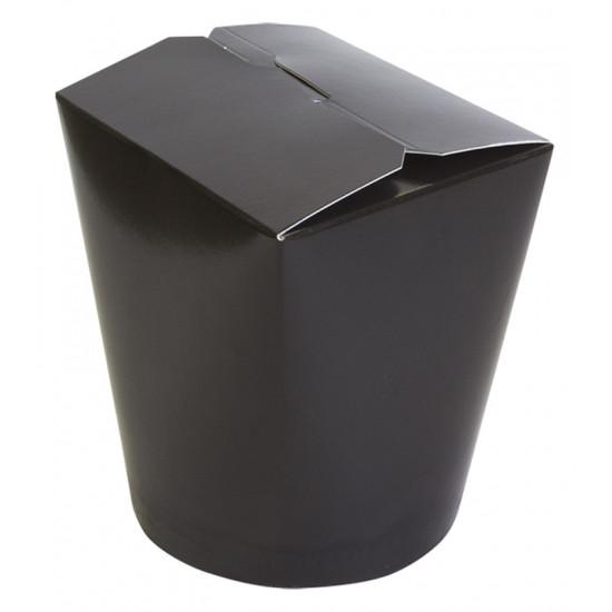Коробка бумажная для лапши (Паста Бокс) 750мл   Черная/Белая 2PE Ø=95мм, h=95мм