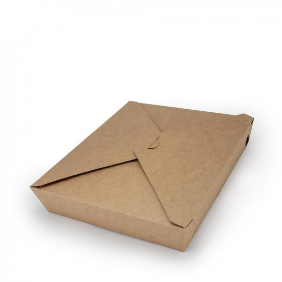 """Контейнер бумажный универсальный """"L""""   Крафт 270*230*55мм"""