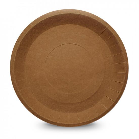 Тарелка бумажная рифленая Ø=230мм | Крафт