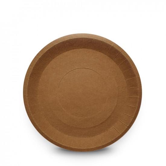 Тарелка бумажная рифленая Ø=180мм | Крафт