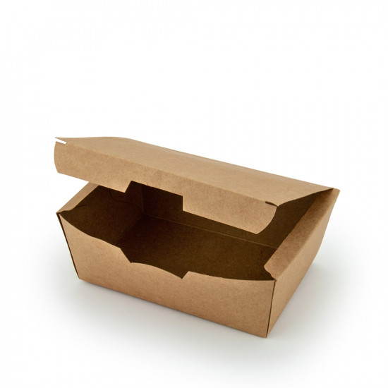 Коробка бумажная для снеков, суши малая   Крафт 130*88*48мм