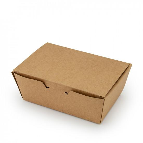 Коробка бумажная для снеков, суши большая   Крафт 165*105*58мм