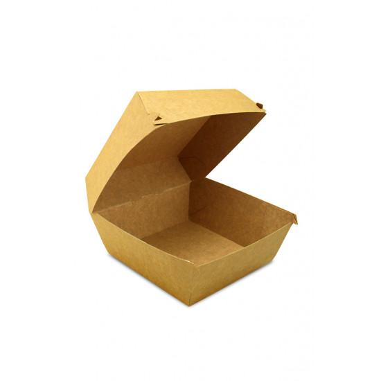 Коробка бумажная под бургер (Big Size) высокая   Крафт 130*130*100мм