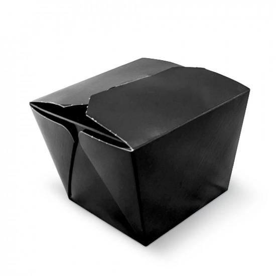 Коробка бумажная для лапши ВОК 700мл | Черная/Крафт 1PE 85*85*82,5мм