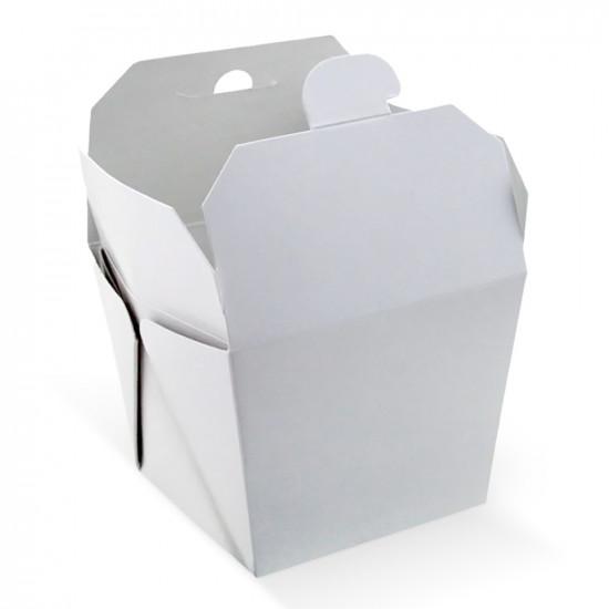 Коробка бумажная для лапши ВОК 700мл | Белая 1PE 85*85*82,5мм