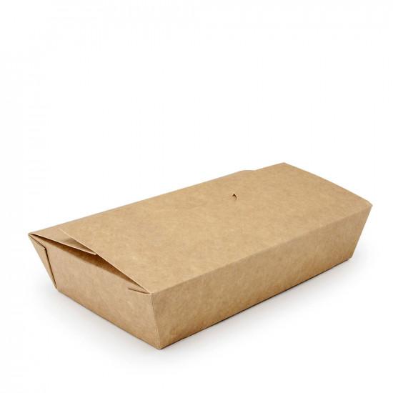 Контейнер универсальный для еды | Крафт/Белая 1PE 180*115*43мм