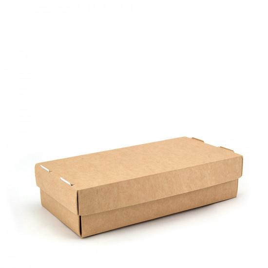 Коробка для суши и вторых блюд 1РЕ   Крафт 200*100*50мм