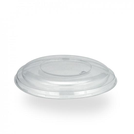 "Крышка ""нахлобучка"" PET плоская для контейнеров под запайку | Прозрачная Ø=190мм, h=10мм"