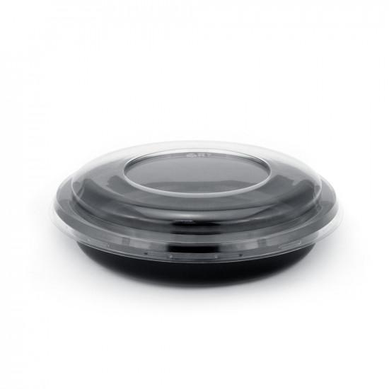 Контейнер PP под запайку 730мл | Черный Ø=189мм, h=30мм