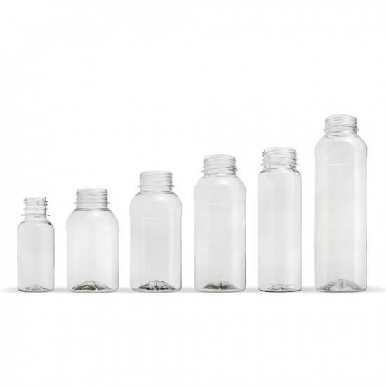 Бутылка PET «квадрат» 500мл | Прозрачная Ø=38мм