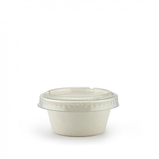 Соусник из сахарного тростника 50мл   Белый Ø=63мм