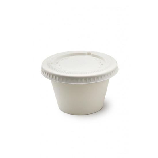 Крышка для соусника из кукурузного крахмала 120мл | Белая