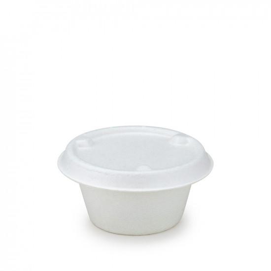 Крышка для соусника из сахарного тростника 30-60мл   Белая