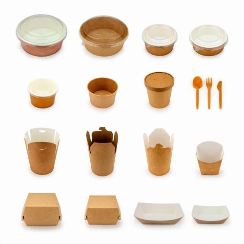 Посуда одноразовая - серия Крафт