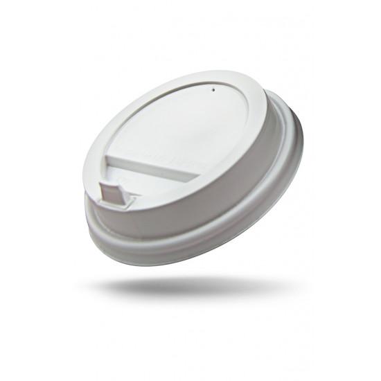 Крышка с питейником PP для стакана Ø=80мм | Белая