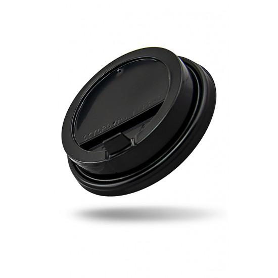 Крышка с питейником PP для стакана Ø=90мм   Черная