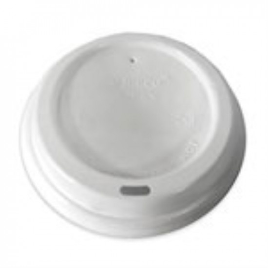 Крышка без поилки PS Ø=72мм | Белая для бумажных стаканов