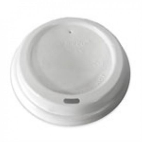 Крышка без поилки PS Ø=74мм | Белая для бумажных стаканов