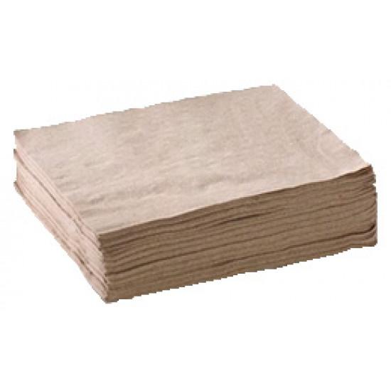 Салфетка бумажная барная однослойная 24*24см | Крафт (300шт/уп)