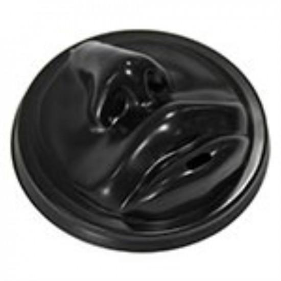 Крышка в форме губ PS Ø=90мм   Черная для бумажных стаканов