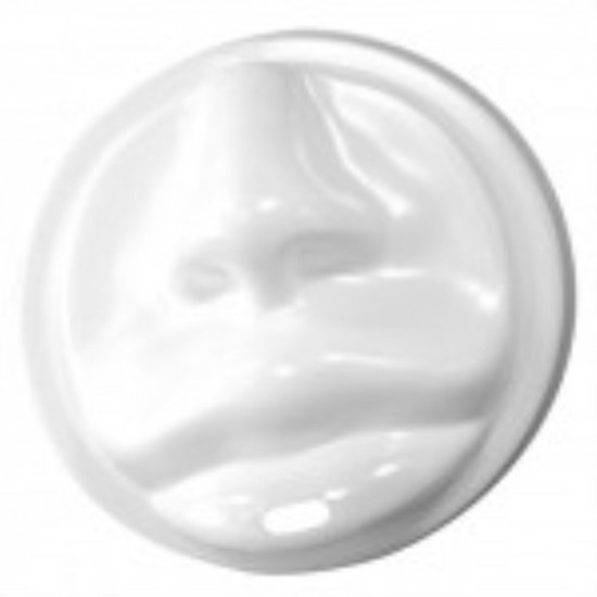 Крышка в форме губ PS Ø=90мм   Белая для бумажных стаканов