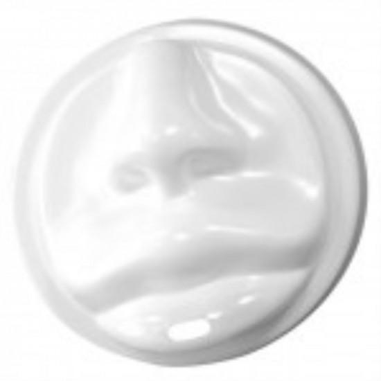 Крышка в форме губ PS Ø=80мм | Белая для бумажных стаканов