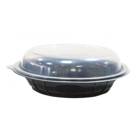 Контейнер PP под хинкали с купольной крышкой 850мл   Черный Ø=210мм