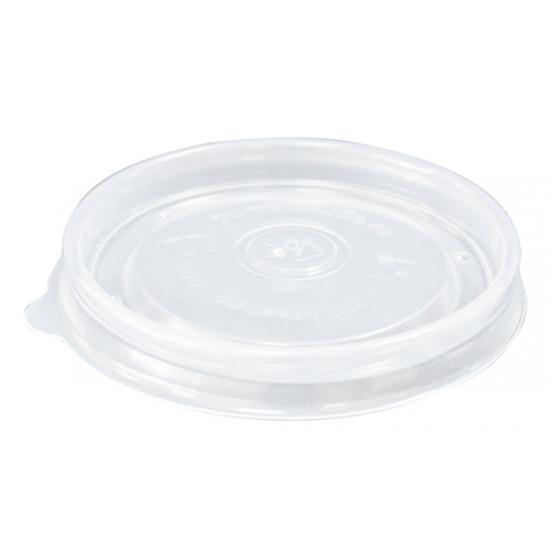 Крышка плоская PP для супового контейнера Ø=98мм | Прозрачная