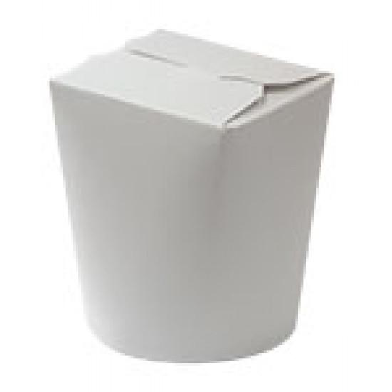 Коробка бумажная для лапши (Паста Бокс) 600мл   Белая 1PE Ø=90мм, h=103мм