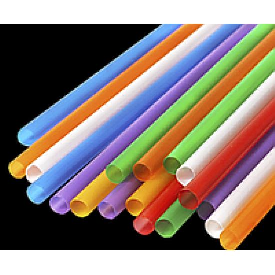Трубочка (соломинка) для фреша Ø=8мм d=200мм | Разноцветная (500шт/уп)