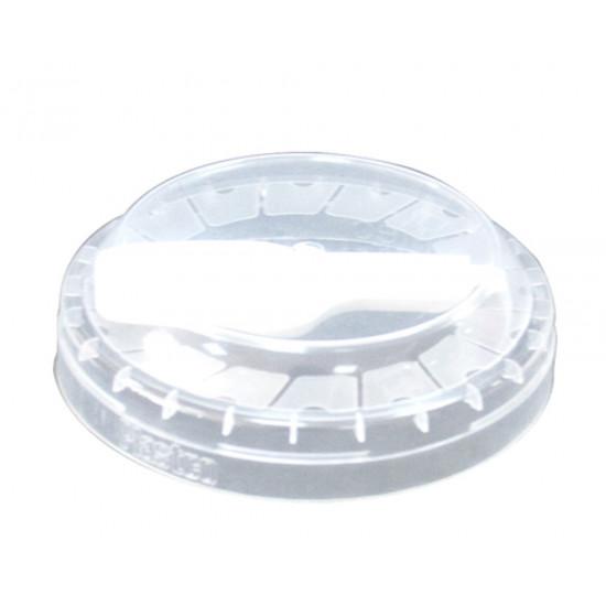 Крышка плоская PP с ложечкой Ø=75мм | Прозрачная