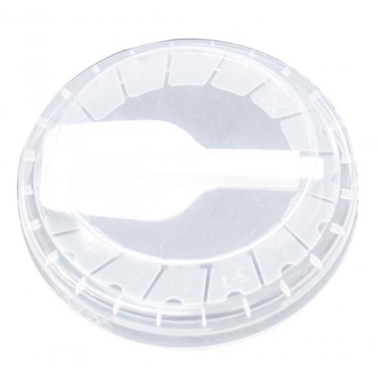 Крышка плоская PP с ложечкой Ø=95мм | Прозрачная