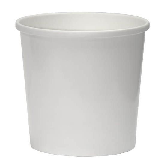 Контейнер бумажный 500мл | Белый 2PE Ø=98мм, h=100мм