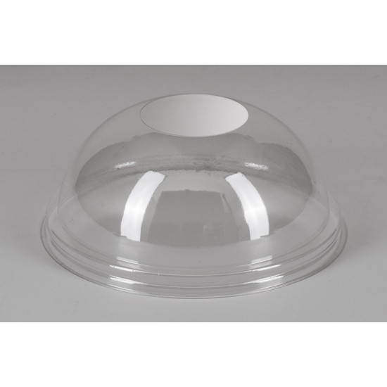 Крышка купол PET без отверстия | Прозрачная Ø=95мм, h=40мм
