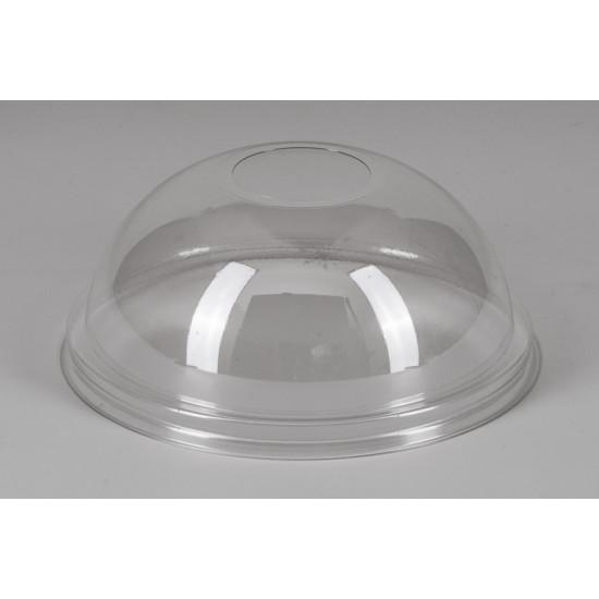 Крышка купол PET с отверстием NEW | Прозрачная Ø=95мм, h=40мм