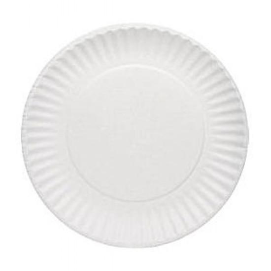 Тарелка бумажная Ø=230мм | Белая 2PE