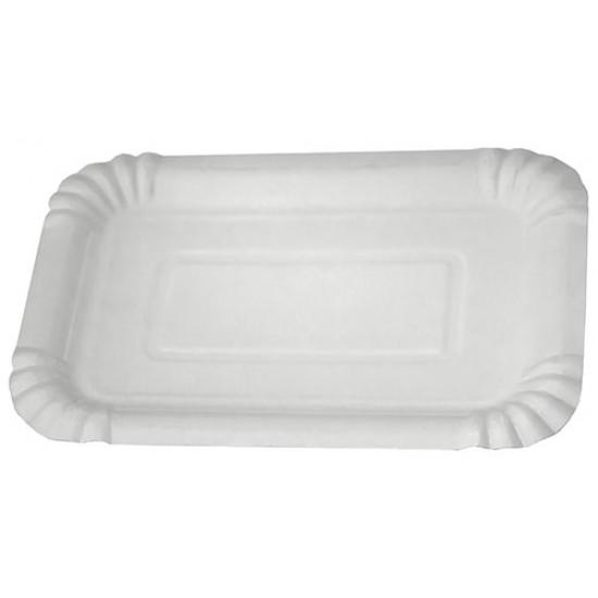 Тарелка бумажная прямоугольная | Белая 2PE 200*140мм