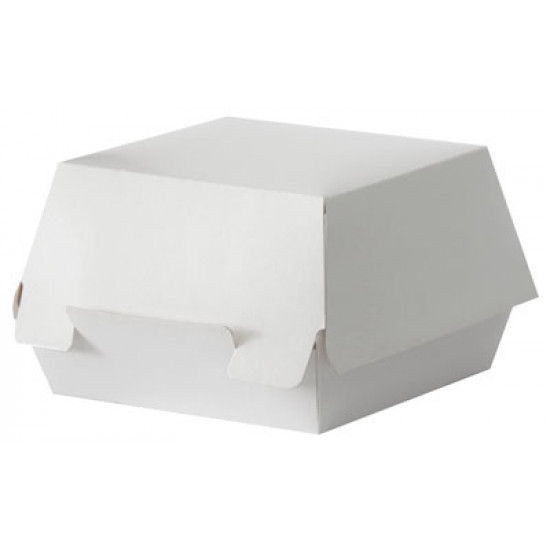 Коробка бумажная под бургер малая   Белая 94*94*70мм