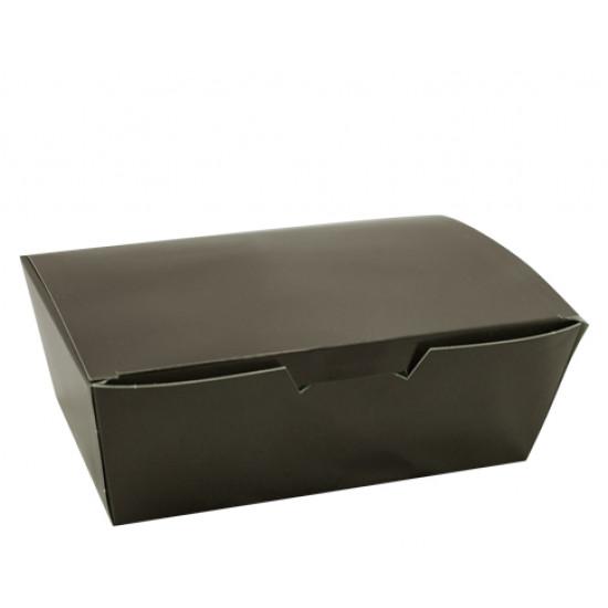 Коробка бумажная для снеков, суши малая | Черная 130*88*48мм