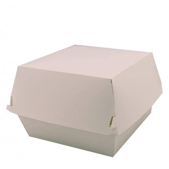 Коробка бумажная под бургер (Big Size) высокая | Белая 130*130*100мм