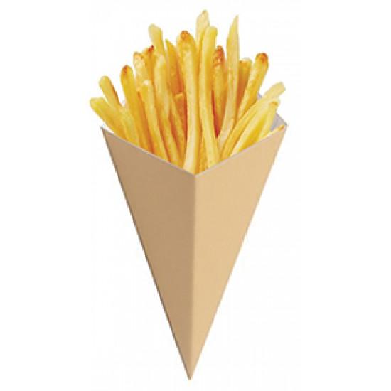 Упаковка бумажная под чурос, картошку фри | Крафт/Крафт 80*200мм