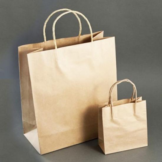 Крафт Пакеты бумажные с кручеными ручками | 305*145*350мм