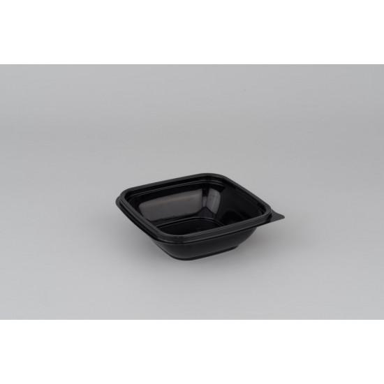 Контейнер квадратный PP 250мл | Черный 126*126*38,5мм