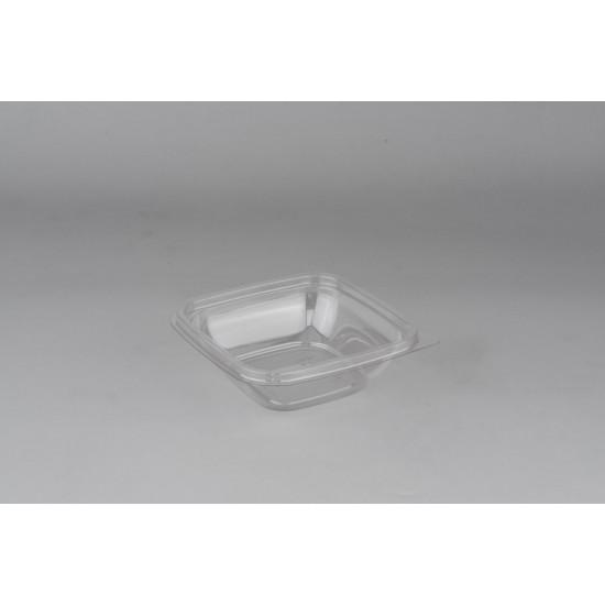 Контейнер квадратный PET 250мл | Прозрачный 126*126*38,5мм