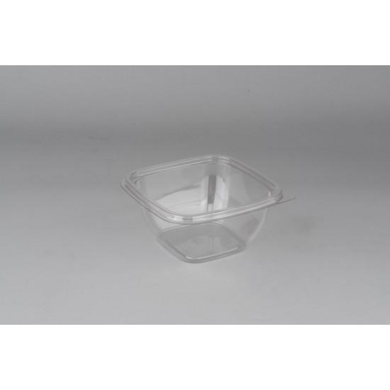 Контейнер квадратный PET 375мл | Прозрачный 126*126*51,5мм