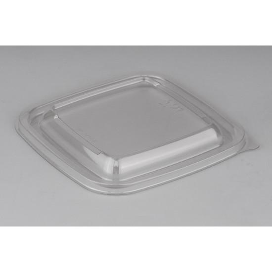 Крышка квадратная PP для контейнеров | Прозрачная 126*126*13мм